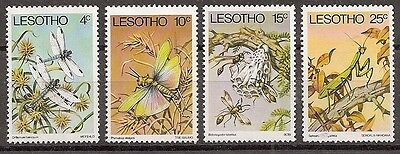 Lesotho 1978 Insects set of 4