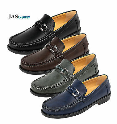 Mens Designer Slip On Shoes Fashion Smart Loafers Work Casual Moccasin UK Style