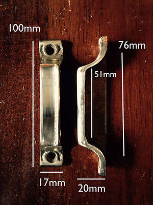 SOLID BRASS RIM LOCK DOOR KEEP 100mm ~ BRITISH MADE VICTORIAN RIMLOCK KEEPS BK17