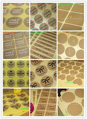 Lowest Price Hand Made Kraft Stickers Seals Label for Gift Box Craft Baking DIY