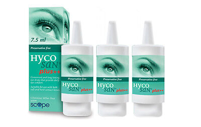 Hycosan Plus Preservative Free Dry Eye Drops X3 pack