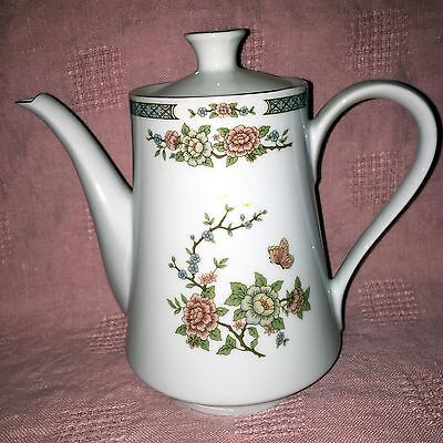 RARE LILING LING FLOWER Teapot with Gold Trim| Fine China | Yung Shen | China