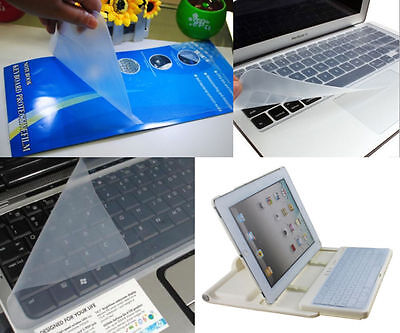 "Universal Silicone Laptop Keyboard Cover Skin Protector for 15"" 17''"