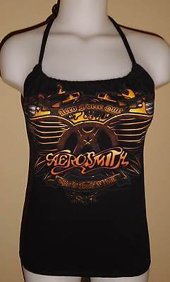 Womens Reconstructed Aerosmith Concert Tour Shirt Halter Top DiY
