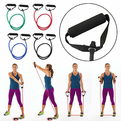 Rubber Strength Exercise Yoga Home Gym Resistance Band Training Rope Stretchy