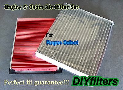 Combo set Engine & Carbonized Cabin Air Filter For Rogue Select 2014-2015