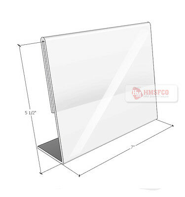 "Acrylic Marketing Sign Holder Display Stand 7"" X5.5""(h) - 3 PCS (626CL)"