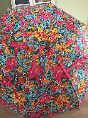 VTG Automatic Umbrella - Floral Flower Design Pattern Very Nice