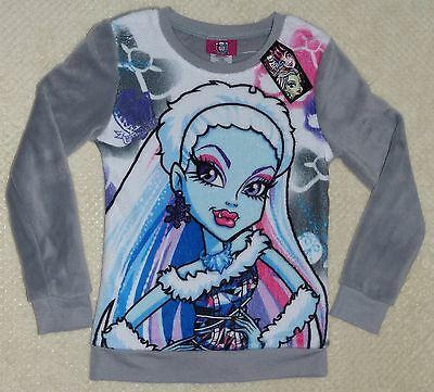 Monster High Abbey Bominable Girls Fleecy Sweatshirt Size Small (7-8) New NWT