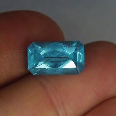Spectacular Color! Neon Blue Apatite Madagascar 6.48ct GLI