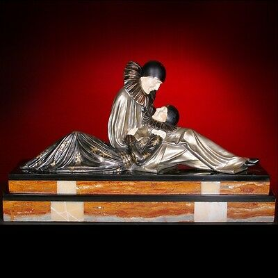 Signed Eternal Story Bronze Sculpture By Chiparus