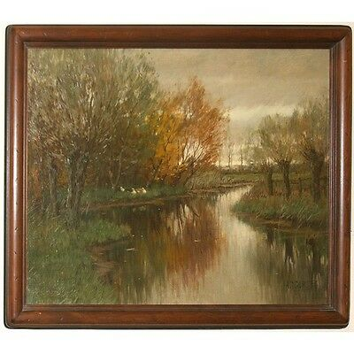 """Untitled (Vordense Beek) by Arnold Marc Gorter Oil on Canvas 20"""" x 25.5"""" Signed"""