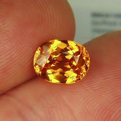 Color & Fire! Mandarin Spessartite Garnet 2.37 ct GLI