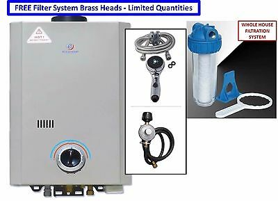 2018 Eccotemp L7 Portable Tankless Water Heater Outdoor Shower + Filter System