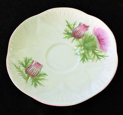 "Vintage SHELLEY Bone China England Dainty Shape THISTLE 5 3/4"" Saucer #13820"