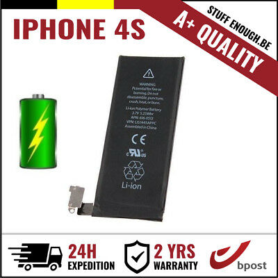 Iphone 4S A+ Replacement Remplacement Battery/batterij/batterie/accu Li-Ion