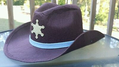 Crazy 8 Baby Infant Cowboy Hat Halloween Costume Sz 0-12 Months Brown Sheriff