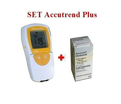 Accutrend Plus System Bundle SET Monitor Device & Cholesterol 25 Test Strips 25
