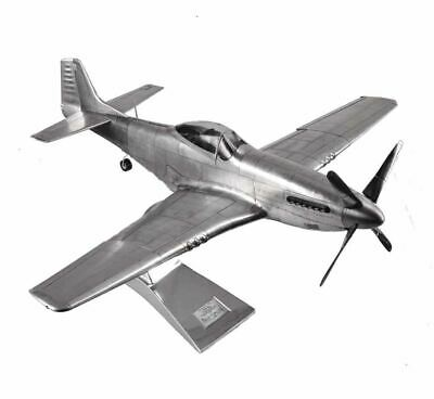 """Airplane WWII Mustang P-51 Fighter 26"""" Desktop Model Aircraft Authentic Models"""