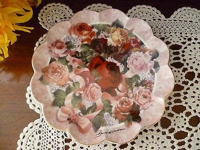 Victorian Rose Bouquet  Plate Franklin Mint Heirloom