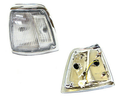 Toyota Hilux Rn85 2Wd 88-97 Corner Light Lamp Chrome Rim Clear Lens- Left Side