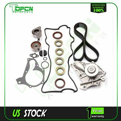 Timing Belt Water Pump Kit Valve Cover Gasket 3SFE 5SFE Fits 87-01 Toyota 2.0L