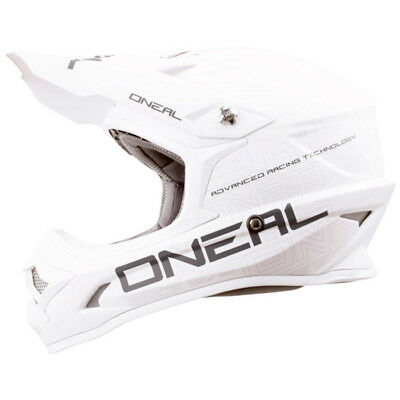 Oneal NEW 2017 Mx 3 Series Flat White Dirt Bike Matte Motocross Helmet