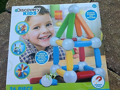 Discovery Kids Magnetic Blocks - 26 Pieces - New