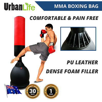 New MMA Kick Boxing Punching Bag Heavy Duty DenseCore PU Leather Standing Strong