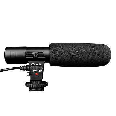 DSLR Camera Camcorder 3.5mm Direction External Microphone for Canon Nikon MIC01