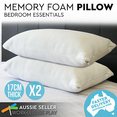 Eco-Friendly Shredded Memory Foam Pillow Ultra Soft Fabric Fibre Cover Deluxe