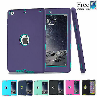 "Heavy Duty Shockproof Case Cover For New iPad 6th Gen 9.7"" iPad 4 3 2 mini Air"