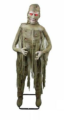 Slow Twisting Body Motion Lighted Animated Mummy Halloween Monster Decoration