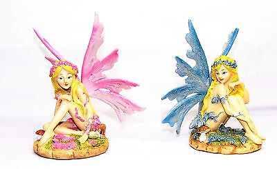 Faires~14 Cm Sitting Forest Fairy~(2 To Choose From)