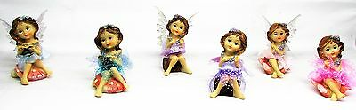 FAIRES~10 CM CUTE SITTING FAIRY~6 ASSORTED (Sold seperately)