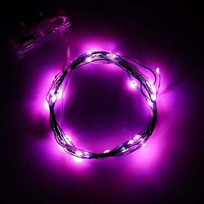 2M 20LEDs Pink Soft Wire LED String Light 3*AA Battery Operated DIY Starry Fairy