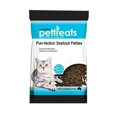 Purr-fection Seafood Petites Treats for Cats 80g - Made in Australia