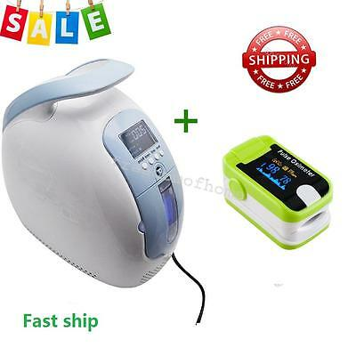Portable Oxygen Concentrator Generator home/Traval/Car+Fingertip Oximeter 24 hrs