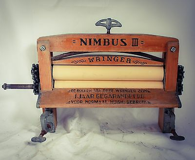 NIMBUS III Wash Wringer Clothes Mangle Wooden Heavy