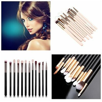12pcs Kabuki Style Professional Make up Brush Set Foundation Blusher Face Powder