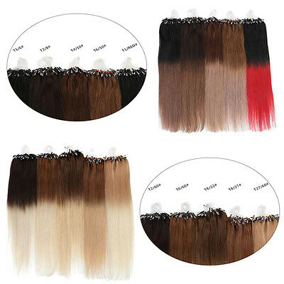 100S 40-65Cm Omber Naturels 100% Remy Extensions De Cheveux Pose A Froid Loop