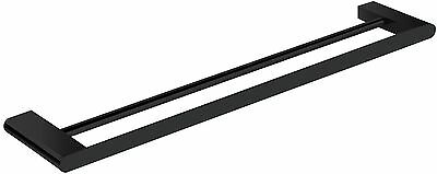 Bathroom Accessories Fittings Double Towel Rail Bar 900 Matt  Black Square/round