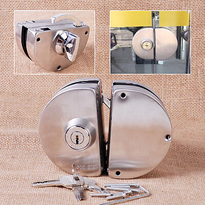 12mm Durable 304 Stainless Steel Double Bolts Swing Push Sliding Glass Door Lock