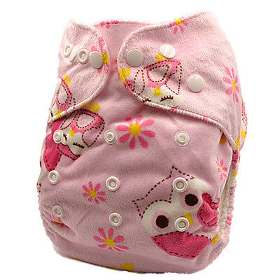 Modern Cloth Nappies Baby MCN Reusable Minky Adjustable One-Size-Fit-All (M71)