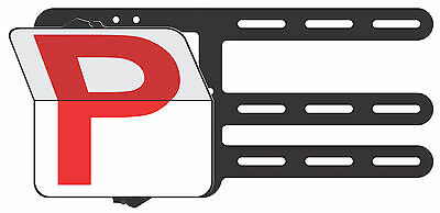 Red P Plate - Clip Plate for the Learner Driver