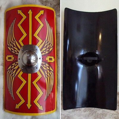 Hand Made Metal Roman Scutum Shield Ideal 4 Re-enactment, Stage, Costume Or LARP