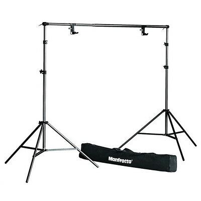 Genuine Manfrotto Background 1314B Support System inc stands pole clamps kit bag