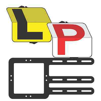 """L and Red Provisional Driver """"Rippa"""" Pack L and Red P Plate - Clip Plate"""