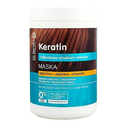 Dr Sante Keratin Hair Mask with Keratin and Collagen for Brittle Hair 1000ml