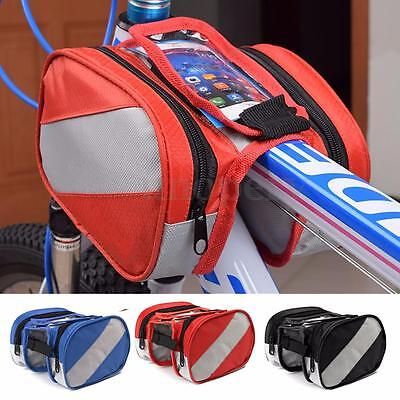Cycle Bicycle Bike Frame Front Top Tube Pouch Bag Mobile Phone Accessory Holder